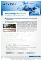 """Das Bild zeigt das Produktblatt """"Leitungsgebundene Einrichtungen"""" mit den Ansprechpartnern aus dem Büro Schwerin."""