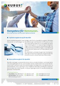 """Das Bild zeigt das Produktblatt """"Optimierungsberatung & Kennzahlenvergleich für Bauhöfe""""."""