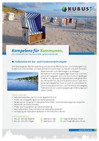 """Das Bild zeigt das Produktblatt """"Kur- und Fremdenverkehrsabgabe"""" mit allen Informationen auf einer Seite."""