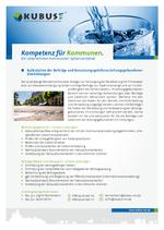 """Das Bild zeigt das Produktblatt """"Leitungsgebundene Einrichtungen"""" mit den Ansprechpartnern im Büro München."""