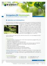 """Das Bild zeigt das Produktblatt """"Friedhofsgebühren"""" mit den Ansprechpartnern des Büros Schwerin."""