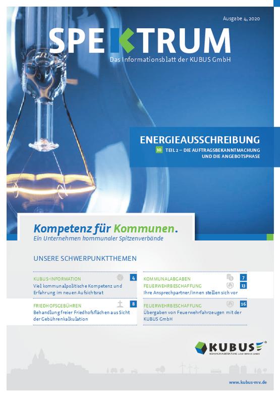 Laden Sie sich hier die Ausgabe des KUBUS-Spektrums zum Thema Energieausschreibung mit einem Klick herunter!