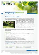"""Das Bild zeigt das Produktblatt """"Friedhofsgebühren"""" mit den Ansprechpartnern des Büros München."""
