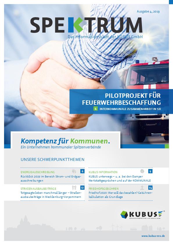 Zu sehen ist die aktuelle Ausgabe des Spektrum-Magazins 04/2019 der KUBUS GmbH.