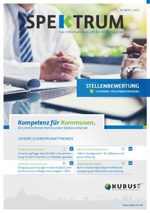 """Die neue Ausgabe des SPEKTRUMS hat das Titelthema Stellenbewertung - """"Stiefkind"""" Stellenbeschreibung."""