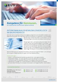 """Das Bild zeigt das Produktblatt """"Kennzahlvergleich für Bauhöfe"""" mit allen Leistungen auf einen Blick!"""