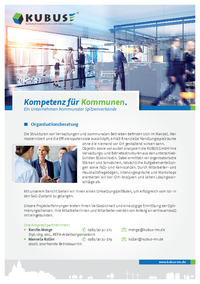 Das Bild zeigt das Produktblatt 'Organisationsberatung'.