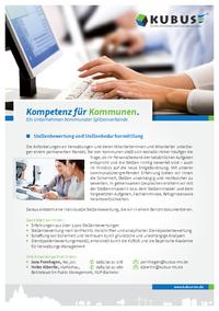 """Das Bild zeigt das Produktblatt """"Stellenbewertung und Stellenbedarfsermittlung""""."""
