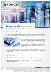 """Das Bild zeigt das Produktblatt """"Haushaltskonsolidierung"""" mit allen Leistungen auf einen Blick."""